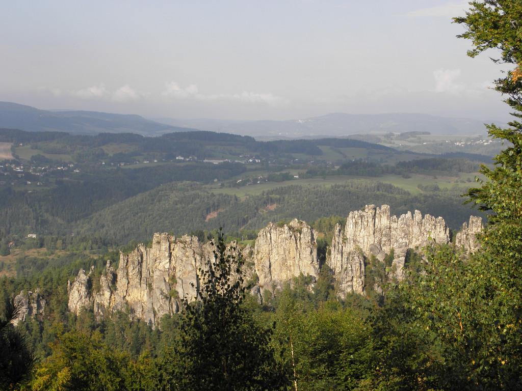Panorama Suchych Skał z Sokoła