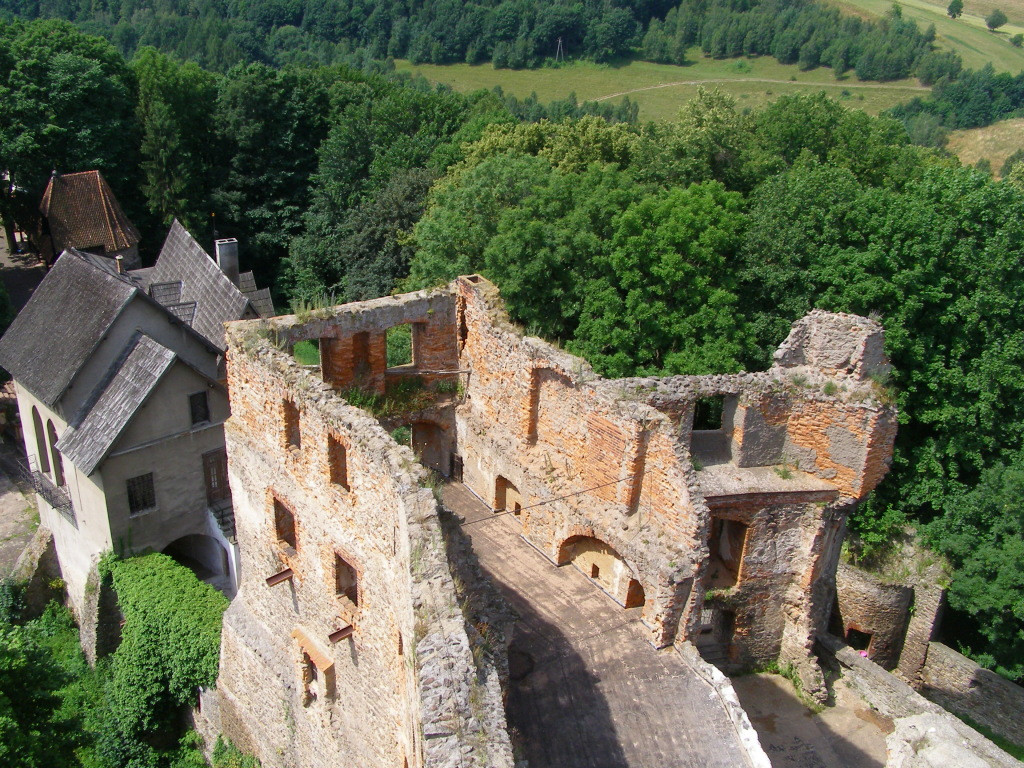 Lower castle from the keep of Grodno