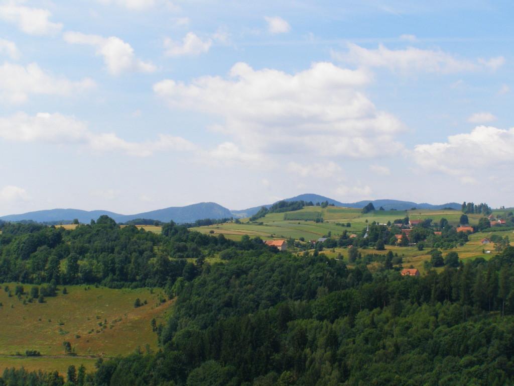 Area of Zagorze Slaskie from the Grodno tower