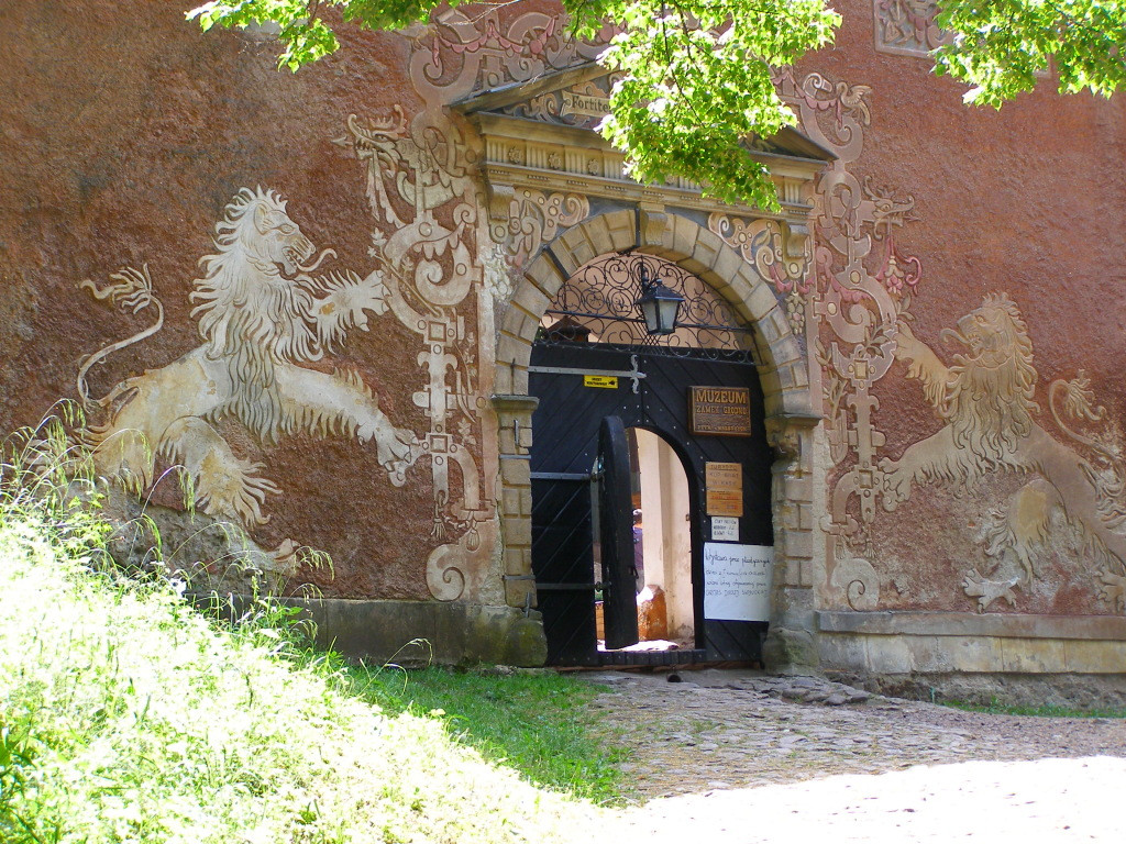 """the outer """"lion"""" gate of Grodno"""