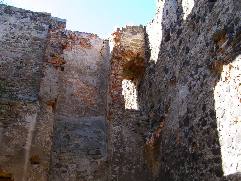 In the ruins of the upper castle