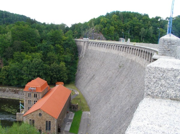 Stone water dam in Pilchowice