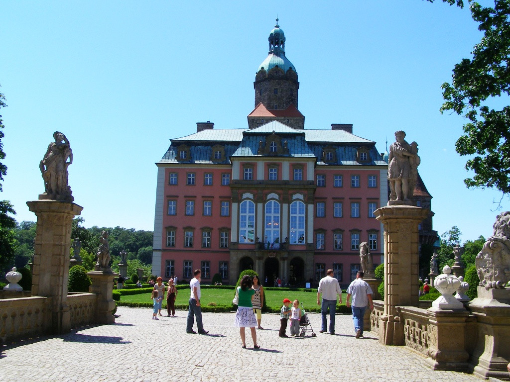 In front of Ksiaz castle