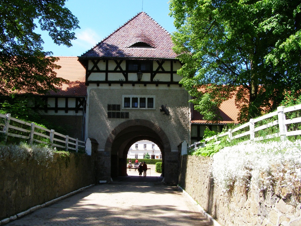 Ksiaz - entrance to the stable