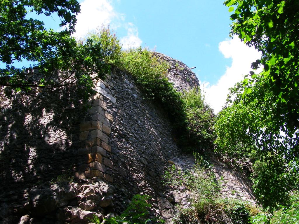Ruins of castle over Wlen