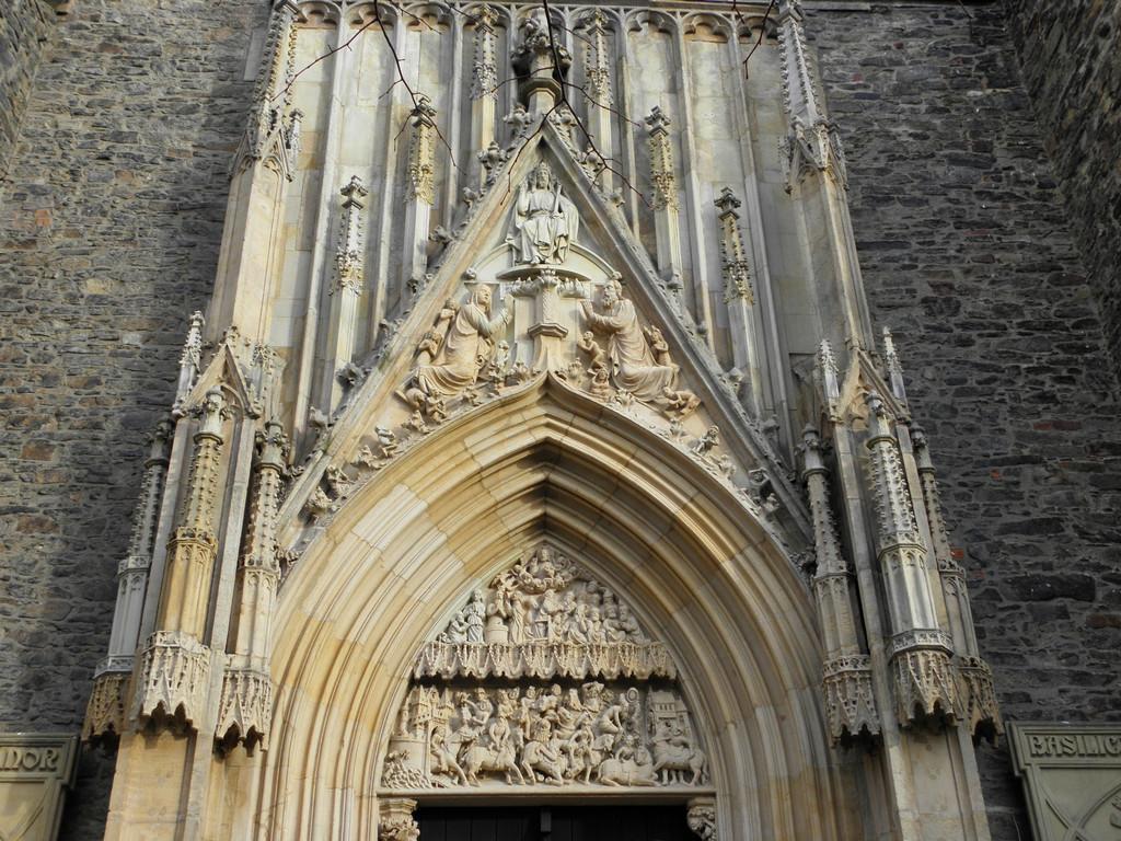Portal on western fascade of church in Strzegom