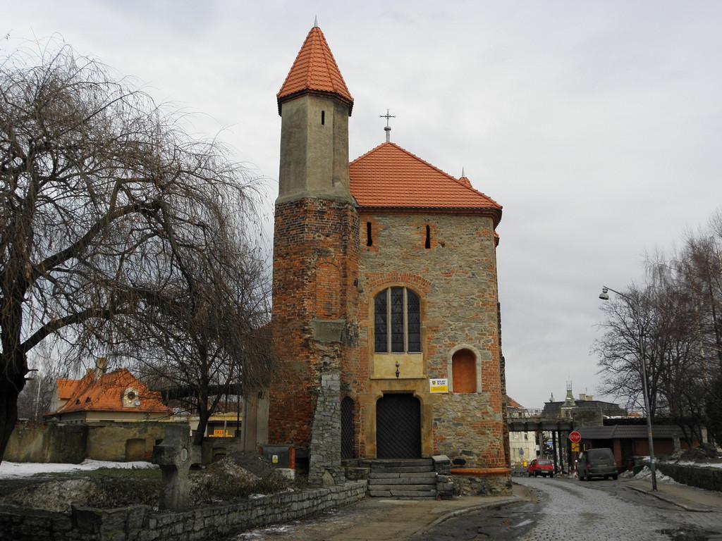 Chapel in line of former walls of Strzegom