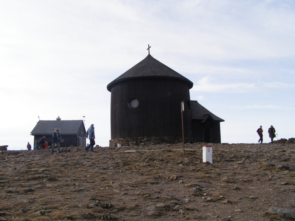 17th century St. Lawrence's chapel on the top of Sniezka