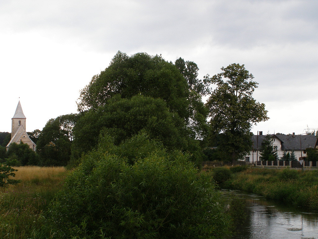 The Bobr river in Wojanow