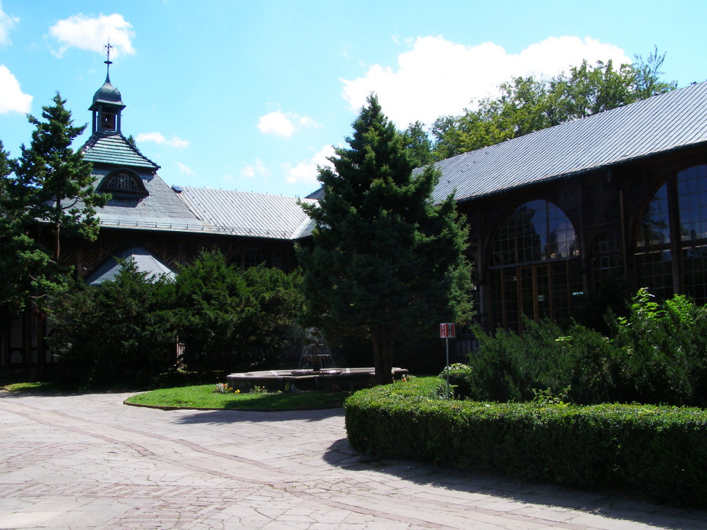 Spring hall in Swieradow-Zdroj