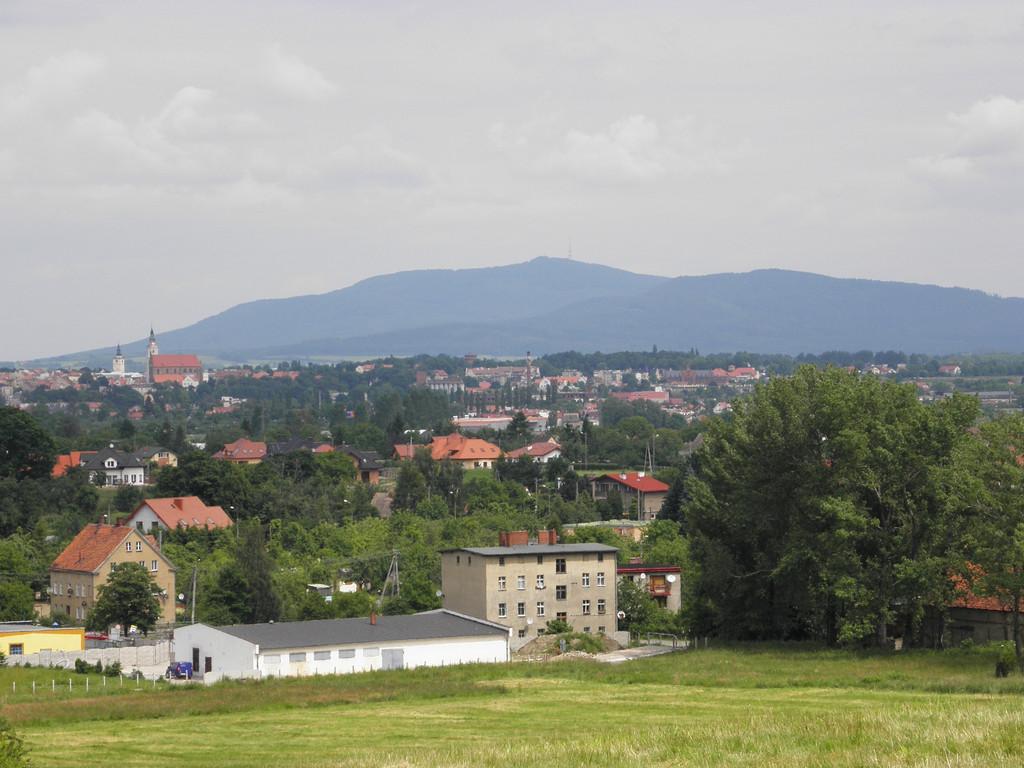 Dzierżoniów - panorama from Łysa Góra