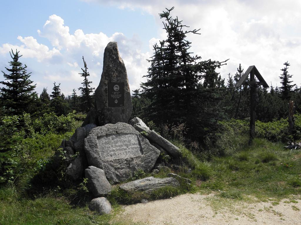 Obelisk na czeskim Smreku
